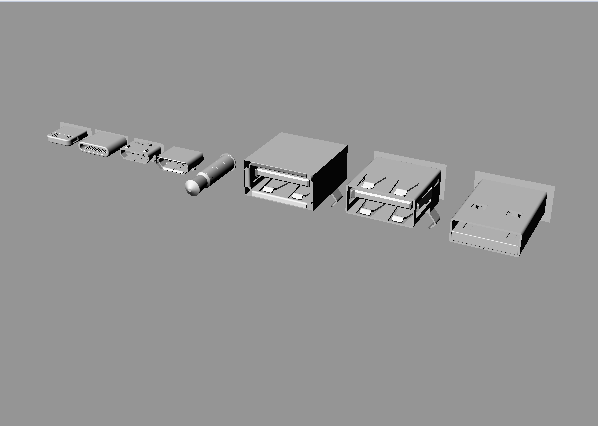 多个常用接口犀牛模型下载