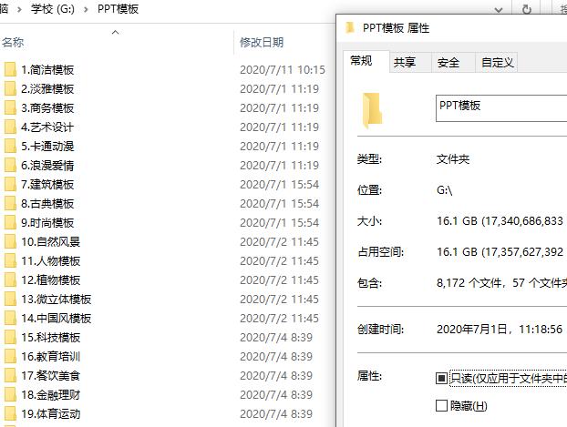 约八千个PPT模板打包下载
